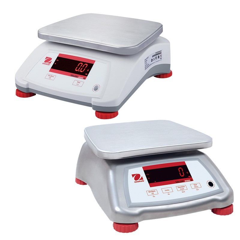 Ohaus Valour 2000 Waterproof Steel Bench Scale